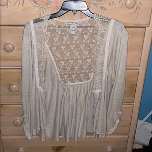 American Rag Cardigan with lace
